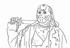 jason coloring pages friday the 13th activity shelter