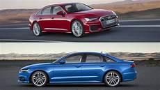 visual comparison 2018 audi a6 vs 2019 audi a6 top speed