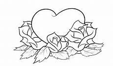 Malvorlage Herz Mit Blumen Bildergebnis F 252 R Zum Ausmalen Rosenzeichnungen