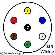 wiring diagram for 12n socket a caravan or towing car