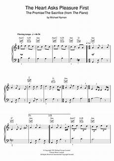 the heart asks pleasure first the promise the sacrifice from the piano sheet music by michael