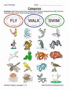 worksheets on animals for grade 1 14265 common worksheet l 1 5 teaching