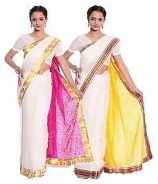 top 14 kerala cotton sarees fashion kiosks kerala kasavu white cotton saree with