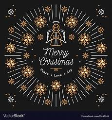 merry christmas card religious poster vector image
