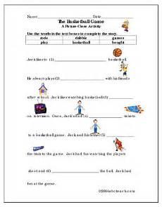 worksheet picture cloze basketball elem abcteach