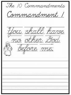 handwriting worksheets for 2nd grade 21376 the 10 commandments cursive writing worksheets 2nd 5th grade bible studies