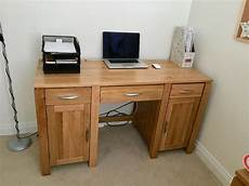 Galway Solid Oak Computer Desk Used Like New