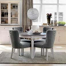 Essgruppe Runder Tisch - essgruppe mit rundem tisch wei 223 grau 5 teilig ausf 252 hrung