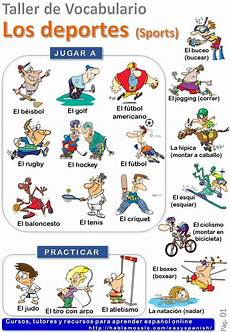 sport en espagnol sports in vocabulary deportes en espa 241 ol a2