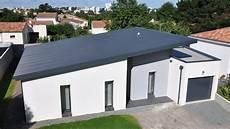 toit plat en zinc maison toit plat bac acier ventana