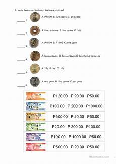 counting money worksheets in peso 2196 philippine money esl worksheets for distance learning and physical classrooms