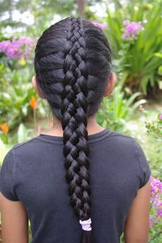 braids hairstyles for super long hair micronesian girl 6 strand french braid