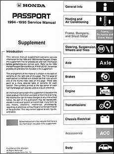 car repair manuals online free 1995 honda passport security system 1994 1995 honda passport repair shop manual supplement original