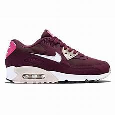 nike air max 90 essential maroon womens trainers 616730