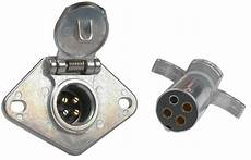 4 way metal trailer wiring connector connectors wiring adapters connectors