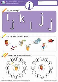 letter recognition phonics worksheet j lowercase simple