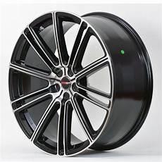 4 Gwg Wheels 20 Inch Black Machined Flow Rims Fits Et38