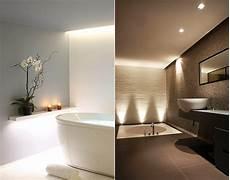 wanddesign ideen bad modern gestalten mit licht coole