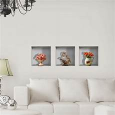 home decor decals vase flower 3d lattice wall decals pag removable
