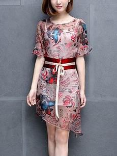 cocktail d été 74201 colorful sheath above knee plus size floral dress for casual evening dress ph affordable
