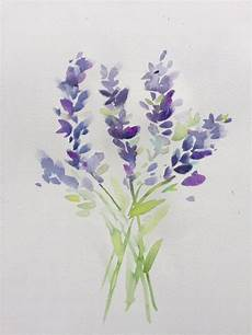 Aquarell Malvorlagen Watercolor Lavender Watercolor Flowers Paintings