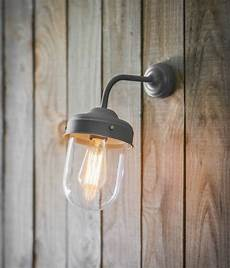 large barn wall light in charcoal grey by garden selections notonthehighstreet com
