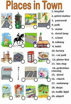 places exercises worksheets 15986 places in town matching activity colores en ingles ciudad en ingles y expresiones en ingles