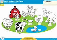 worksheets animals of the farm 13984 the animals on the farm worksheet color the animals simple