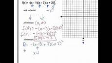graphing polynomials factored form youtube