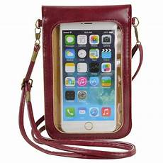Lucky Bags Mobile Phone Accessories by Wine Crossbody Shoulder Bag Cellphone Pouch For