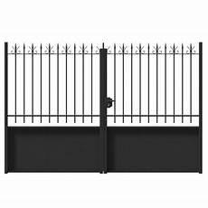 Portail Fer Valli 232 Res Noir 300 X H 200 Cm Castorama