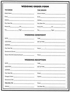 wedding flower planner wedding order form wedding