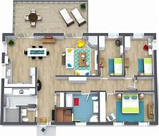 3 bedroomed house plan 3 bedroom floor plans roomsketcher