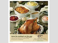Publix Deli Turkey Dinner Fully Cooked Thanksgiving 2019