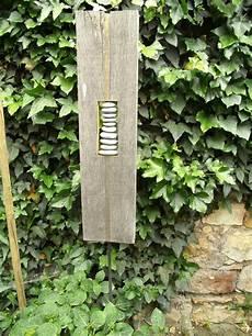 Stehle Weiß Holz - gartendekoration skulptur aus naturholz rheinkiesel