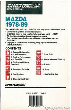 vehicle repair manual 1989 mazda mx 6 security system mazda 1978 1989 rx 7 glc 323 626 929 mx 6 chilton car repair manual ch6981 ebay