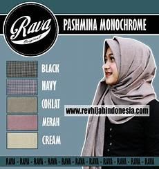 Model Jilbab Pashmina Monochrome Voal Motif