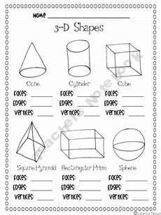 shapes worksheet grade 3 1125 19 best images about math 3d shapes on
