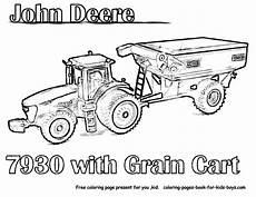 trekker kleurplaat deere kleurplaat tractor