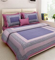 buy ethnic motif 160tc cotton double size bed sheet with 2