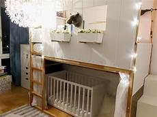 Ikea Kura Crib Hack High Bed Bunk Bed With Baby Cot Ikea
