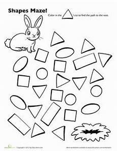 shape maze worksheet 1194 shapes on 36 pins