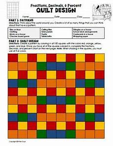 fraction quilts worksheets 4073 fractions decimals percents quilt activity by wise guys tpt
