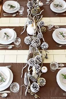 Tischdeko Weihnachten Natur - winterlich festliche tischdeko mit naturmaterialien mein