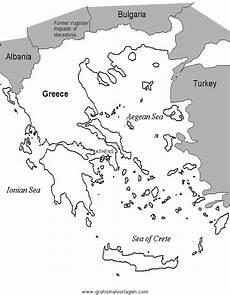 Kinder Malvorlagen Landkarten Landkarte Griechenland 2 Gratis Malvorlage In Geografie