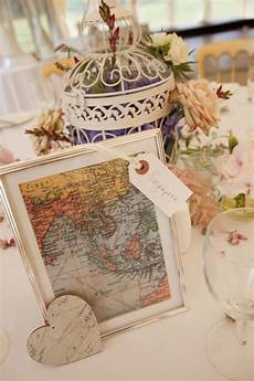 travel themed wedding ideas wedding tables table numbers and couples