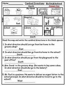 worksheets on directions for grade 4 11747 geography map skill cardinal directions worksheets by mzat tpt