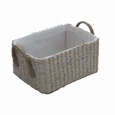 Basket Storage by Soft Rectangular Lined Storage Basket