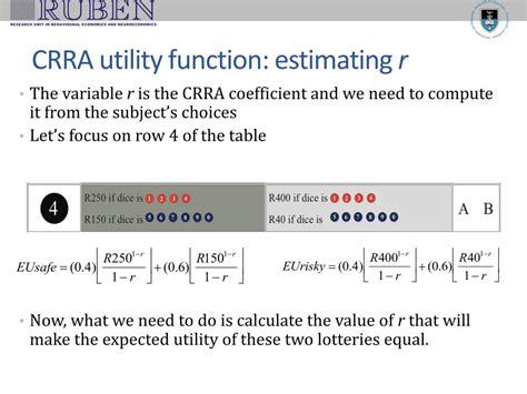 Crra Utility Function