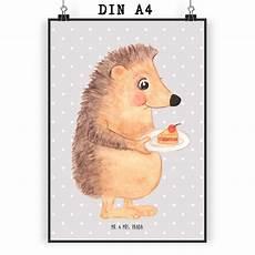 Igel Malvorlage Din A4 Poster Din A4 Igel Mit Kuchenst 252 Ck Aus Papier 160 Gramm